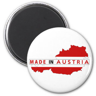 made in austria country map flag product label magnet