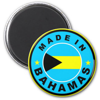 made in bahamas country flag label round stamp 2 inch round magnet