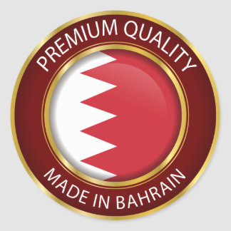 Made in Bahrain Flag, Bahraini Colors Seal