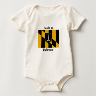 Made in baltimore baby bodysuit