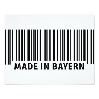 made in Bayern barcode icon 4.25x5.5 Paper Invitation Card
