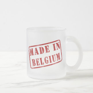 Made in Belgium Frosted Glass Coffee Mug