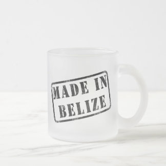 Made in Belize Frosted Glass Coffee Mug