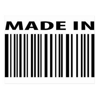 made in blank bar code barcode postcard