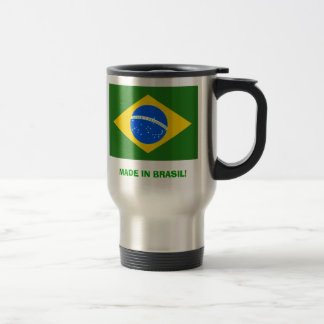 MADE IN BRASIL STEEL TRAVEL MUG! TRAVEL MUG