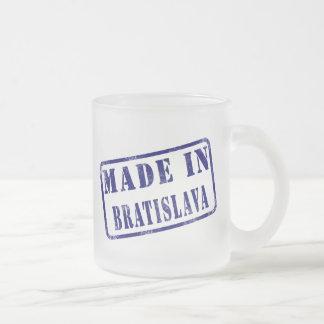 Made in Bratislava 10 Oz Frosted Glass Coffee Mug