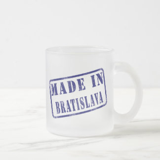 Made in Bratislava Frosted Glass Coffee Mug