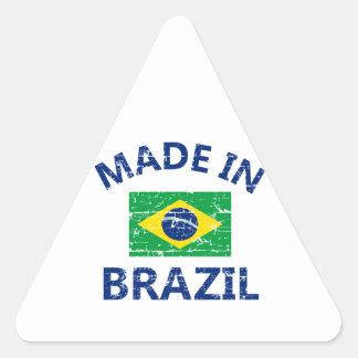 Made in Brazil Triangle Sticker