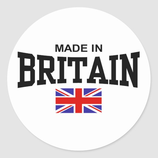 Made In Britain Classic Round Sticker