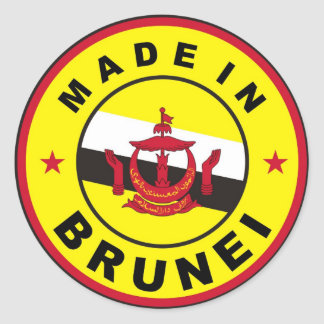 made in brunei country flag label stamp