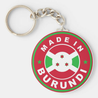 made in burundi country flag label stamp keychain