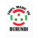 Made In Burundi Postcards