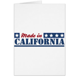 Made In California Greeting Card