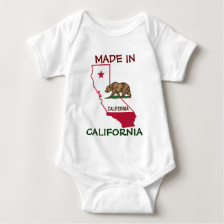 Made in California - Silhouette and Flag Baby Bodysuit