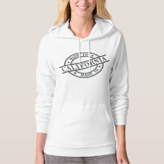 Made In California Stamp Style Logo Symbol Black Hoodie