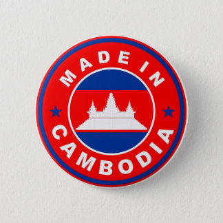 made in cambodia country flag product label round button