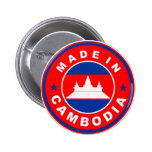 made in cambodia country flag product label round 2 inch round button