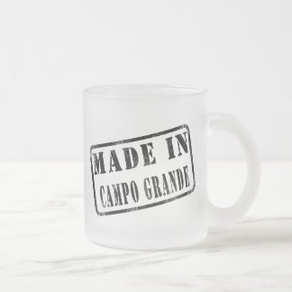Made in Campo Grande 10 Oz Frosted Glass Coffee Mug