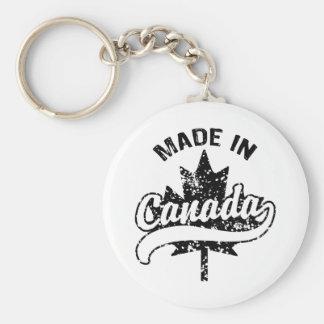 Made In Canada Basic Round Button Keychain