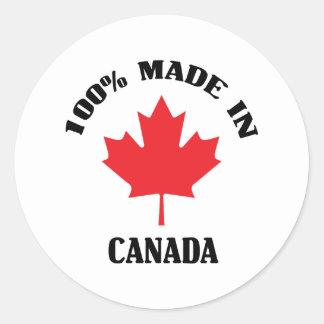 Made In Canada Classic Round Sticker