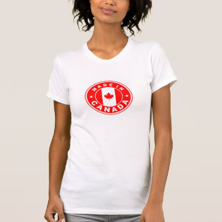 made in canada country flag label round stamp T-Shirt