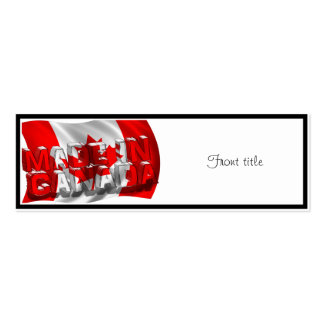 Made in Canada (Flag Background) Business Card Templates
