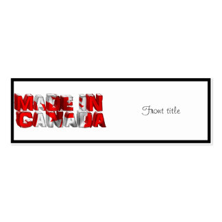 Made in Canada Flag Text Business Card
