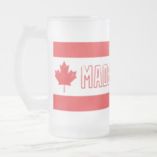 Made In Canada Frosted Glass Mug