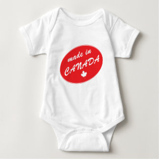 Made in Canada Red Baby Bodysuit