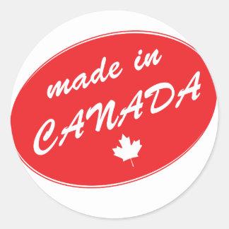 Made in Canada Red Classic Round Sticker