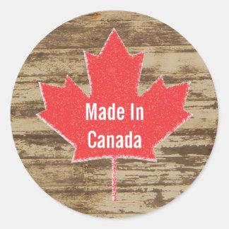 Made In Canada Rustic Sticker