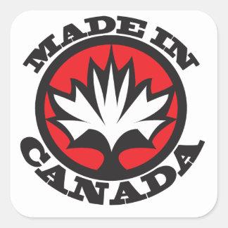 Made in Canada Square Sticker