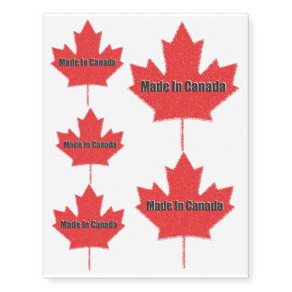 Made In Canada Temporary Tattoos