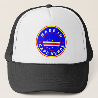 made in cape verde country flag product label trucker hat