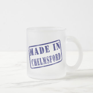 Made in Chelmsford Frosted Glass Coffee Mug