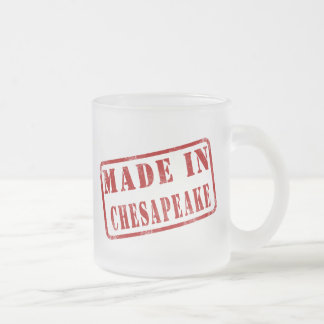 Made in Chesapeake Frosted Glass Coffee Mug