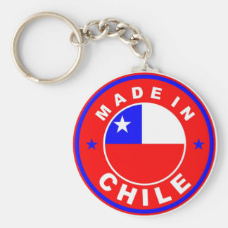 made in chile country flag product label round basic round button keychain