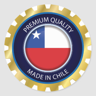 Made in Chile Flag, Simple Chilean Colors, Seal