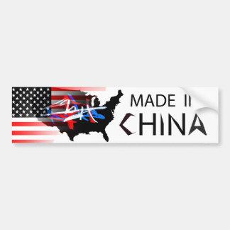 Made in China Car Bumper Sticker