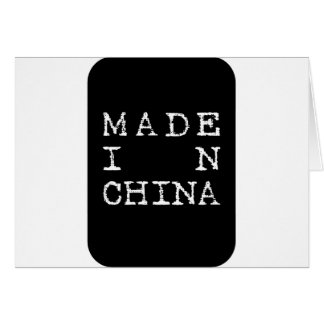 made in china card