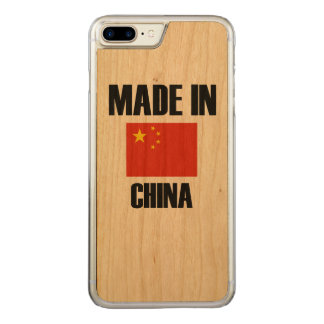 Made In China Flag Carved iPhone 8 Plus/7 Plus Case