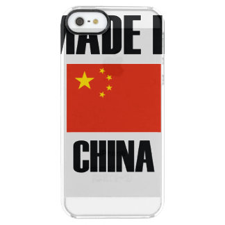 Made In China Flag Clear iPhone SE/5/5s Case