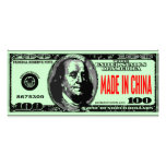 MADE IN CHINA RACK CARD