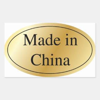 MADE IN CHINA RECTANGULAR STICKER