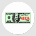 MADE IN CHINA ROUND STICKERS