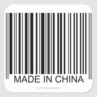 Made in China Square Sticker