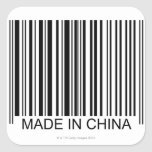 Made in China Square Stickers
