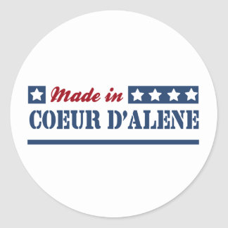 Made in Coeur d'Alene Round Stickers