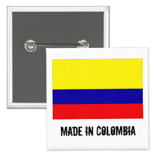 Made in Colombia square button