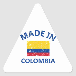 Made in Colombia Triangle Sticker
